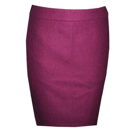lovely soft peau de sois plum pencil skirt elizabeth s