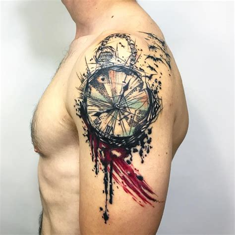 125 timeless pocket watch tattoo 125 timeless pocket ideas a classic and