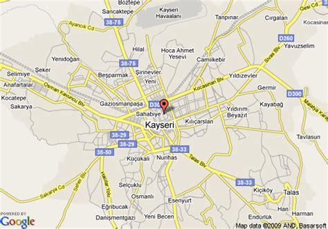 kayseri map map of kayseri kayseri
