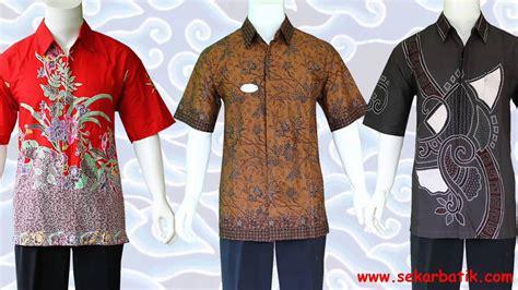 Kemeja Try baju kemeja batik pria modern di sekarbatik