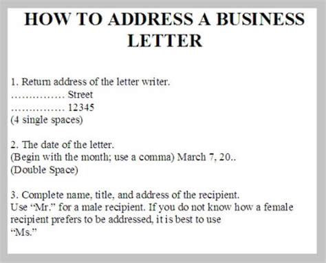 Business Letter Addressing Format address a business letter business letter exles