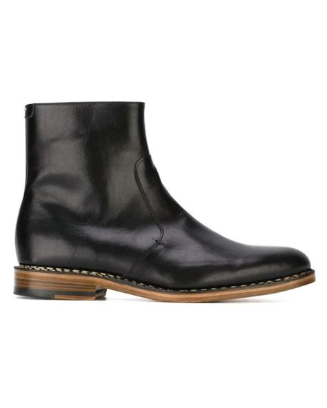 margiela boots mens maison margiela classic ankle boots in black for lyst
