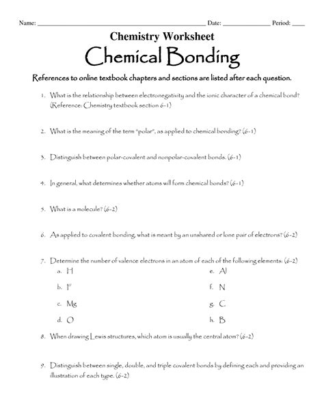 chemical bonding worksheet key 16 best images of ionic bonding worksheet answer key