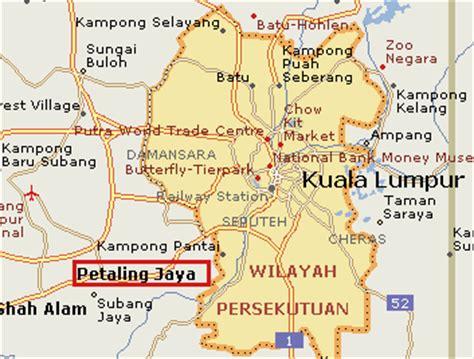 petaling jaya map petaling jaya selangor business
