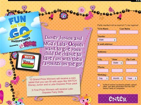 Disney Junior Sweepstakes - disney junior fun on the go sweepstakes