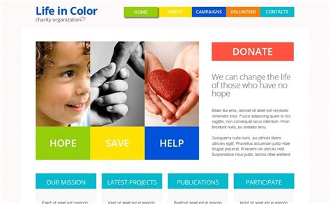 Free Responsive Html5 Theme For Charity Site Free Charity Website Templates