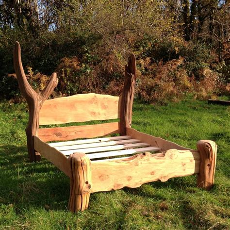 Handmade Beds - chunky rustic oak bed free range designs