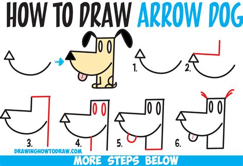 how to draw a puppy step by step how to draw a from an arrow shape easy step by step drawing tutorial for