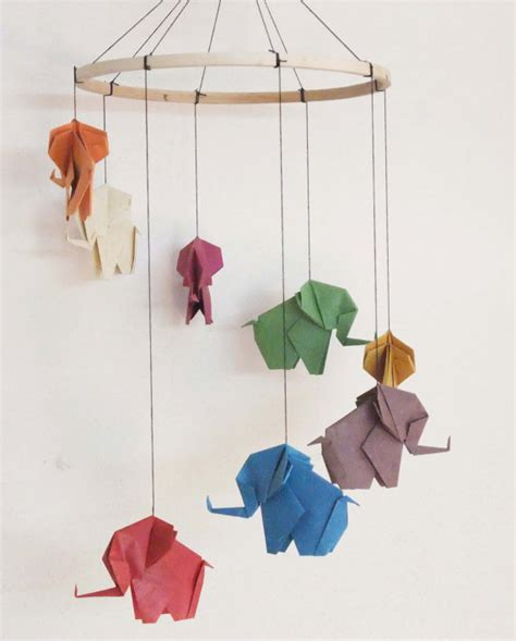 Baby Elephant Origami - origami 233 l 233 phant mobile mobile 233 l 233 phant baby mobile d 233 cor 224