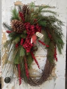 large wreath rustic winter wreath primitive