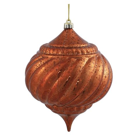 vickerman 375587 6 quot copper shiny mercury onion ball