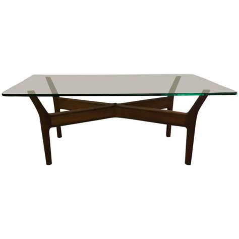 Teak And Glass Coffee Table Mid Century Teak Glass Coffee Table By Alf Svensson For Sale At 1stdibs