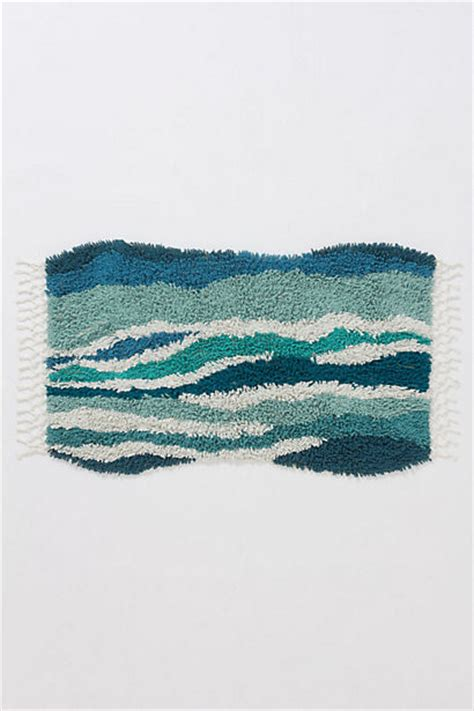 coastal bathroom rugs sechura bathmat turquoise coastal bath mats by