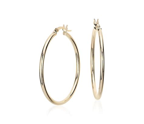 Hoop Earring medium hoop earring in 14k yellow gold 1 3 8 quot blue nile