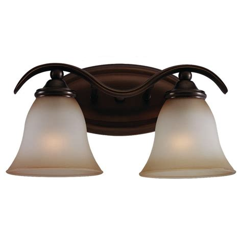 Sea Gull Vanity Lighting Sea Gull Lighting Rialto 2 Light Russet Bronze Vanity Fixture 44360 829 The Home Depot