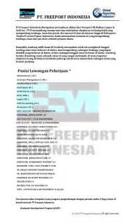 Lowongan Pekerjaan Administrasi lowongan pekerjaan staff administrasi pt freeport