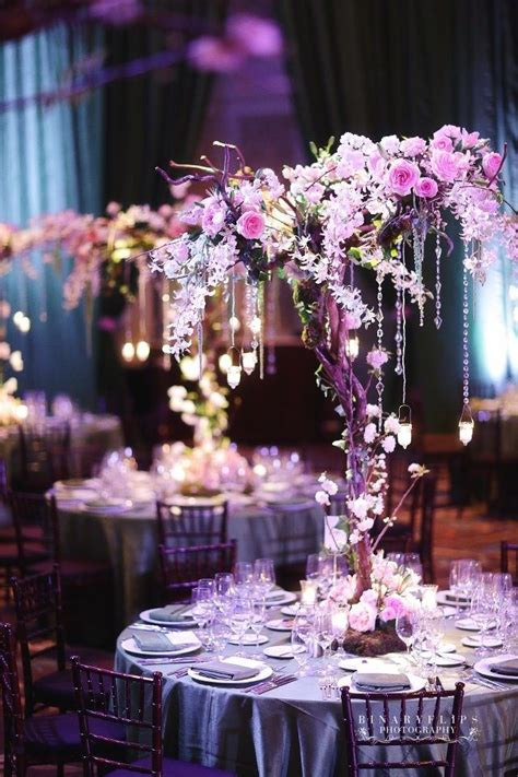 purple decorations for tree lovely photos of purple tree wedding centerpieces ideas