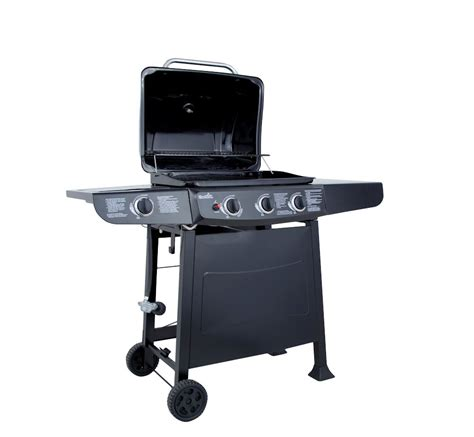 backyard grill 3 burner gas grill with side burner 463722312 open