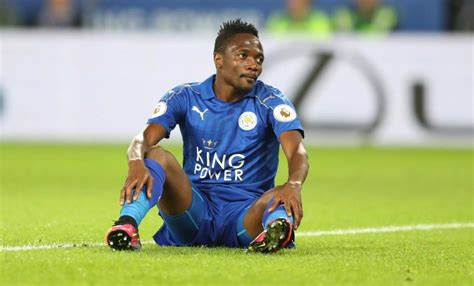 ahmed musa leicester city s midfielder arrested for