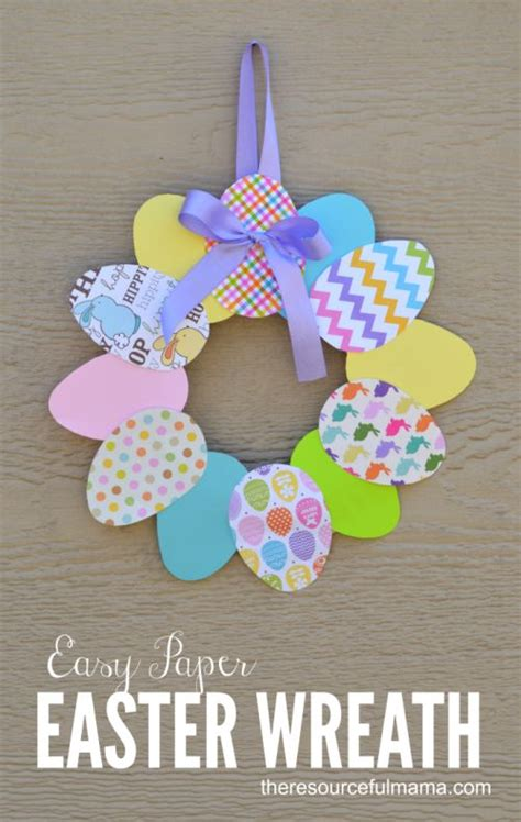 easy paper easter wreath crafts easter decor and for
