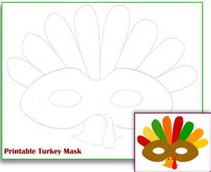 Free Printable Turkey Template by Free Printable Turkey Mask Template The Zone