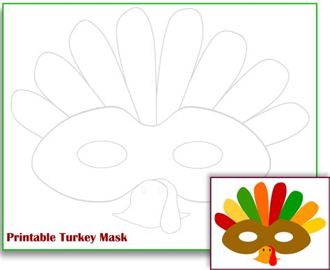 free printable turkey template free printable turkey mask template the zone
