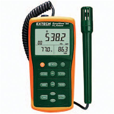 Air Quality Meter Extech Ea80 Easy View Indoor Air Quality Meter Datalogging