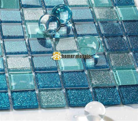Blue Mosaic Badezimmeraccessoires by Blue Glass Mosaic Tiles Hmgm2050 For Kitchen