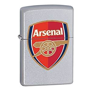arsenal zippo arsenal zippo lighter colour crest in case amazon co uk