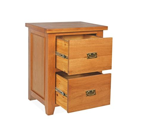 Two Drawer Cabinet by Canterbury Oak 2 Drawer Filing Cabinet