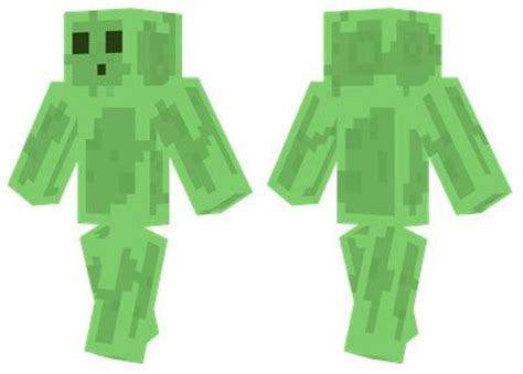 slime man skin  minecraft pe  mcpe box