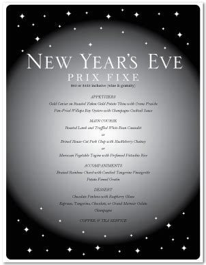new years eve party menu template new year s eve menus