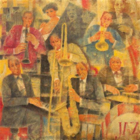 remo testa pittore remo squillantini jazz olio su tavola cm