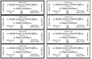 Template For A Ticket by Event Ticket Template Templates For Microsoft 174 Word