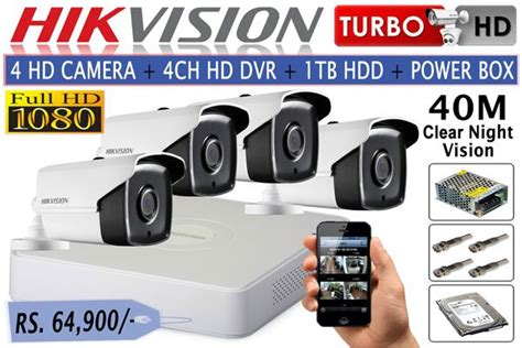 Paket Cctv Smart Exir Turbo Hd Series 1080p 8 In 8 Out 25 hikvision 1080p hd cctv packages 4 turbo hd 4 channel 1080p dvr