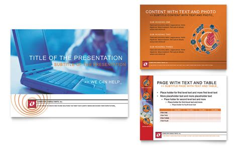 consulting presentation template computer consulting company powerpoint presentation