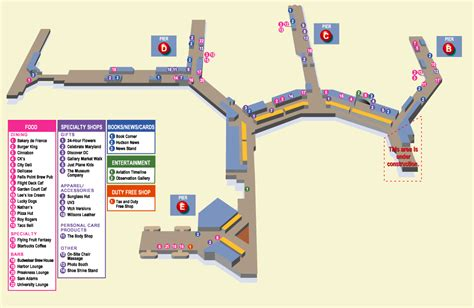 bwi terminal map terminals layout of baltimore international airport airport layouts of united states