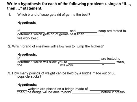 How To Make A Hypothesis For Research Paper - how to write a hypothesis for a research paper 28 images