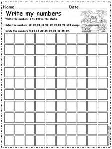 How To Write Numbers In A Paper Write Numbers 1 100 Find Patterns A Well 11 And 100 Chart