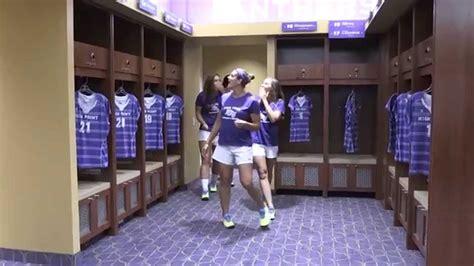in womens locker room witcher athletic center s soccer locker room reveal