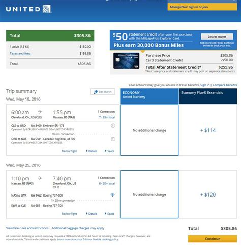 united airlines booking 303 306 cleveland to nassau bahamas r t fly com