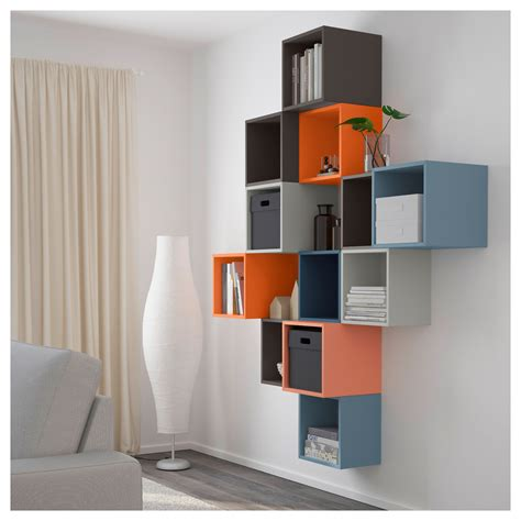 eket wall mounted cabinet combination multicolour