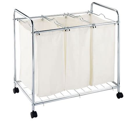 3 Compartment Laundry Basket Trolley Online Shopping Compartment Laundry