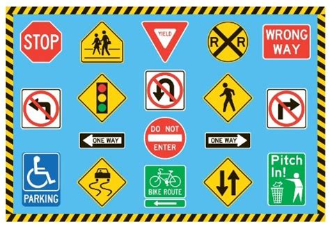Affordable Rugs Online Fun Rugs Ft 130 1929 Traffic Signs Childrens Rug 19 Inch