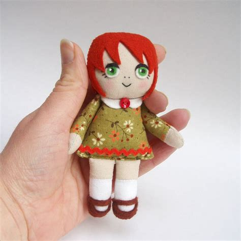 Handmade Dolls Patterns - rag doll handmade rag doll haired doll green