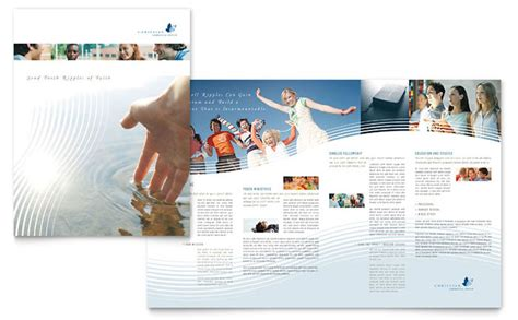 christian brochure templates christian ministry brochure template design