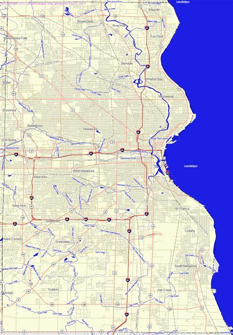 map of milwaukee bridgehunter milwaukee county wisconsin