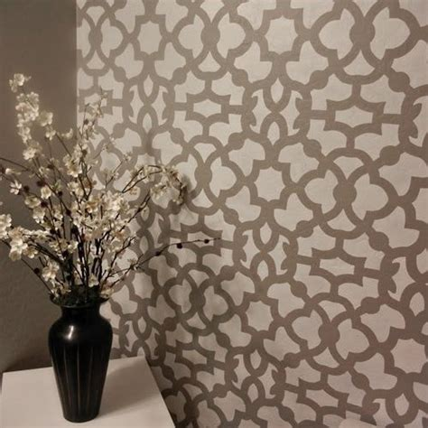 pattern for wall stencil moroccan stencil zamira long reusable stencil patterns