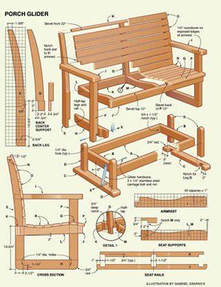 Wood Glider Swing Plans