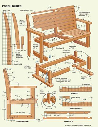 woodwork gliding porch swing plans  plans